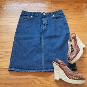 Gap jean skirt size 8